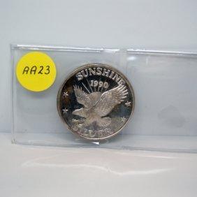 1 Oz Sunshine Minting .999 Fine Silver Round #AA23