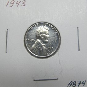 1943 BU Steel Wheat Cent #AB74