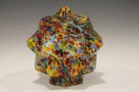 Art Deco Czech Art Glass Shade