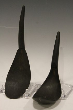 Pair Northwest American Indian Spoons 18-19th C