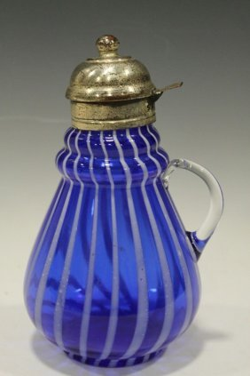 Ring Neck Cobalt Syrup W/ Opalescent Stripe