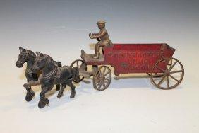 Arcade Cast Iron Contractors Dump Wagon 19th C