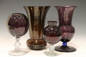 Group Of Purple Amethyst Glass