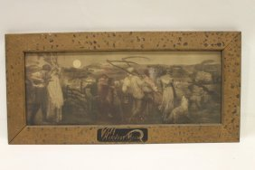 1883 Harvest Moon Print In Decorated Frame
