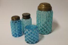 Victorian Pillar 16 Salt Shakers, Toothpick & Sugar