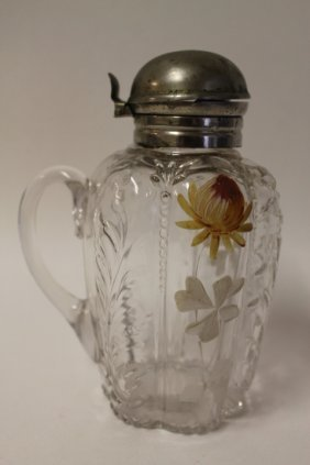 Victorian Northwood Syrup Pitcher - Paneled Sprig