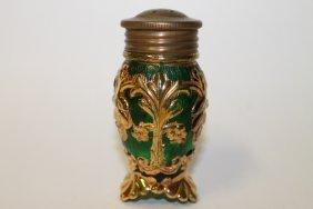 Victorian Beaumont Glass Co. Flora Salt Shaker Heavy