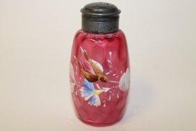 New England Glass Barrel Salt Shaker - Decorated