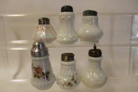 C. F. Monroe Opalware Salt Shakers - Group Of 5