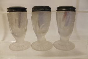 Victorian Hand & Fish Scales Salt Shakers - Group Of 3