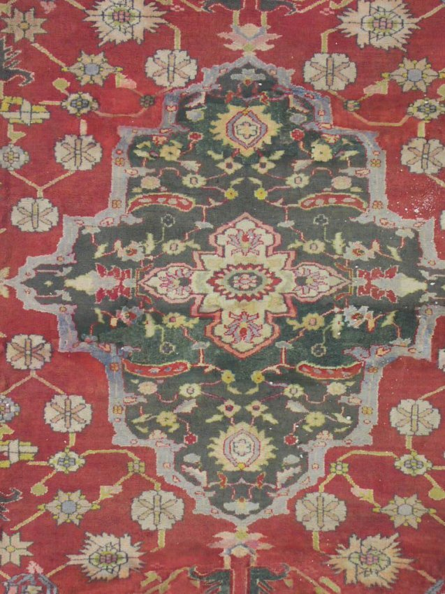 471 12x15 Antique 1920s Cotton Agra Area Rug Lot 471
