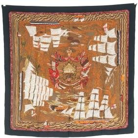 "Hermes ""1880 Henry Smith Sailor"" Scarf"