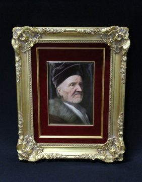 KPM PLAQUE Finely Painted With A Bust-length Portra