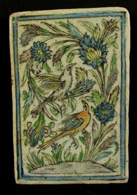 Handpainted Figures Of Birds On Tile