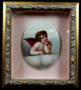 Framed Porcelain Plaque