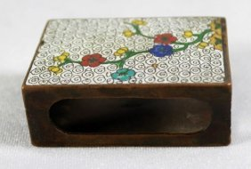 Cloisonne Match Box