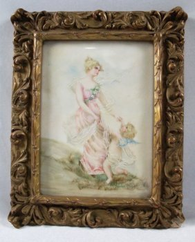 French Porcelain Plaque