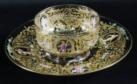 Moser Glass Bowl And Underplate