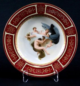 Antique Royal Vienna Handpainted Porcelain Plate,