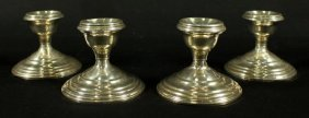 4 Weighted Sterling Candlesticks