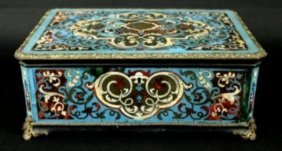 19th C. Boulle Lidded Box
