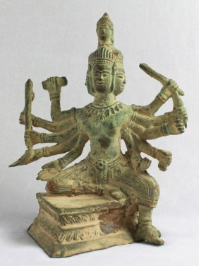 Chinese Figural Of A Deity