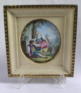 19th C French, Portrait Of A Young Man And Girl With