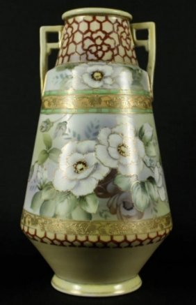 Gorgeous Antique Large Hand Painted Moriage Imperial