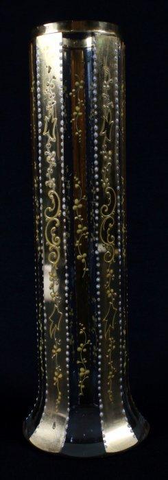 Moser Gilt Decorated Glass Vase