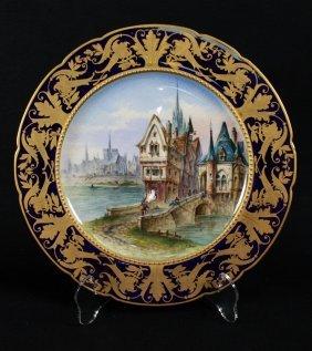 Antique Sevres Porcelain Cabinet Plate