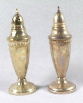 Pair Of Sterling Silver Salt Shakers