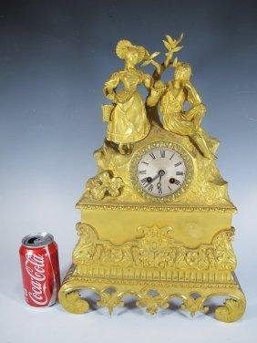 19th C. French Bronze Mantel Clock