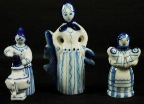 Set Of 3 Russian Porcelain Figures