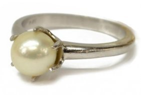 Ladies 14kt & Pearl Estate Ring