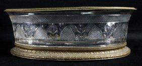 A Continental Gilt Metal Mounted Cut Glass Center Bowl