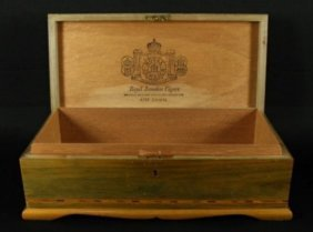 Vintage Inlaid Royal Jamaican Cigar Box