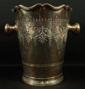 Inlaid Silver Bucket