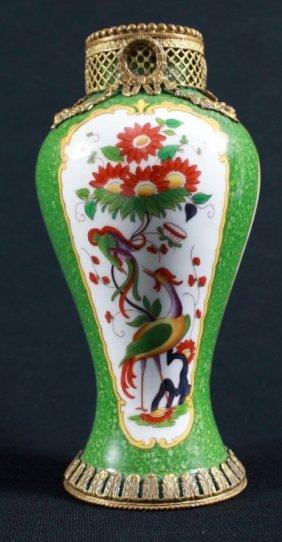 Gilt Bronze Overlay Porcelain Classical Design Vase