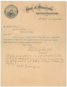Cole Younger Letter