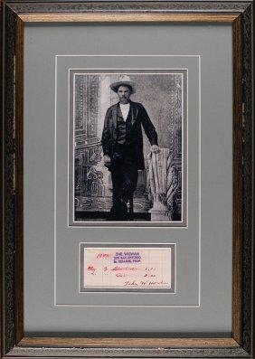 John Wesley Hardin Saloon Tab