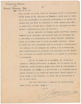 Francisco �Pancho� Villa Letter