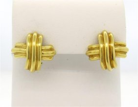 Tiffany & Co. Classic 18k Gold X Earrings