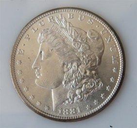 1881 S Silver Morgan Dollar Us Coin