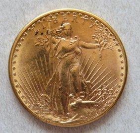 1923 D Saint Gaudens 20 Dollar Double Eagle Gold Us