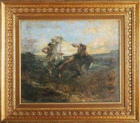 EDWARD MATTHEW HALE - Coppia Di Cavalieri.