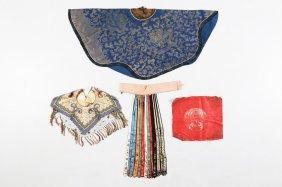 Arte Cinese Four Chinese Fabricschina, Qing Dynasty,