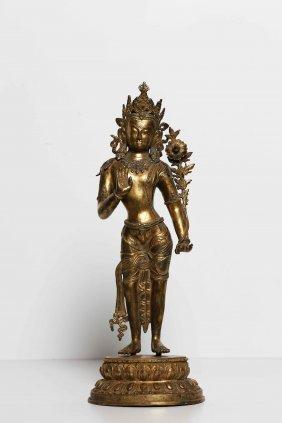 Arte Himalayana A Gilt Bronze Statue Depicting