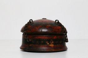 Arte Indiana A Lacquered Wooden Turban Boxindia,