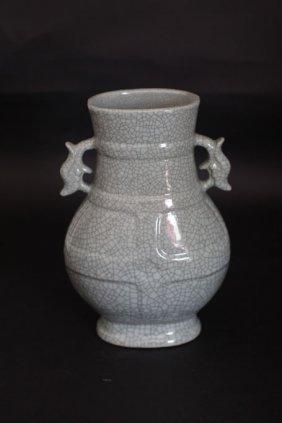 Chinese Artifact Celadon Porcelain Vase