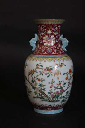 Chinese Antique Bird Nest Flower Vase